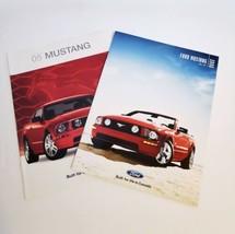 Mustang 2005 Brochure & 2006 Lot 2 Ford Original Sales Literature New Unread - $29.99
