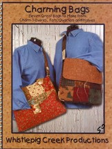 Charming Bags Totes Purses 11 Designs Whistlepig Creek Quilt Pattern Boo... - $7.17