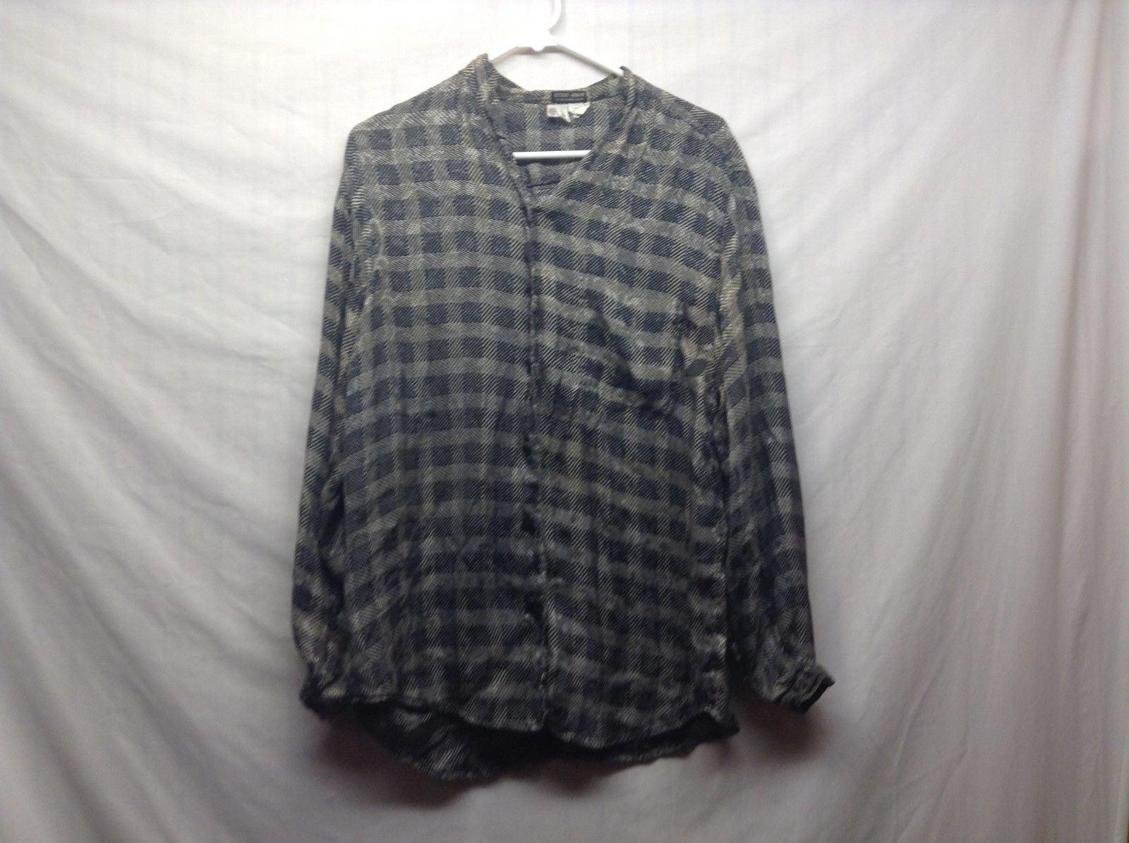 Giorgio Armani Checkered Blouse Sz 44