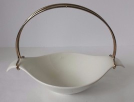 Mid Century Modern Retro Ceramic Mint Tray Nut Dish With Handle - $22.76