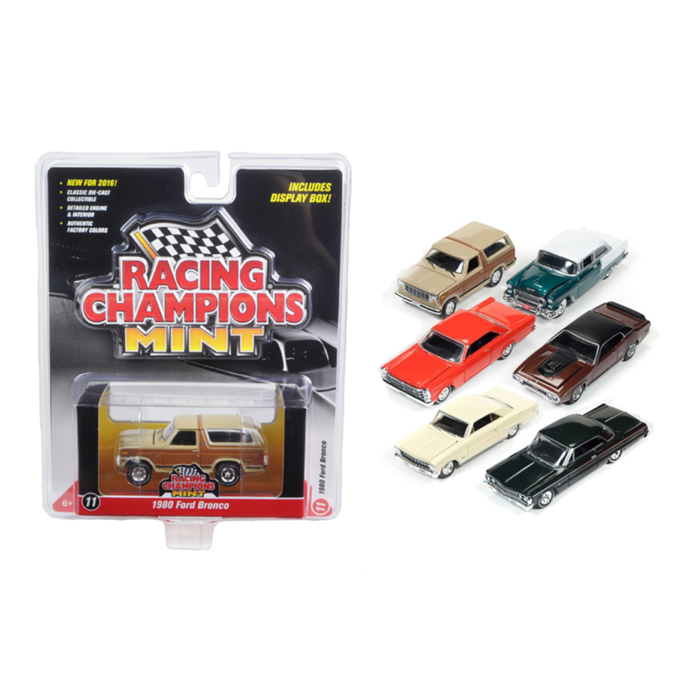 Mint Release 2 Set A Set of 6 cars 1/64 Diecast Model Cars by Racing Champions R