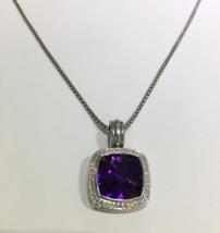 David Yurman Albion Pendant Enhancer with Amethyst and Diamonds, 14mm - $1,035.00