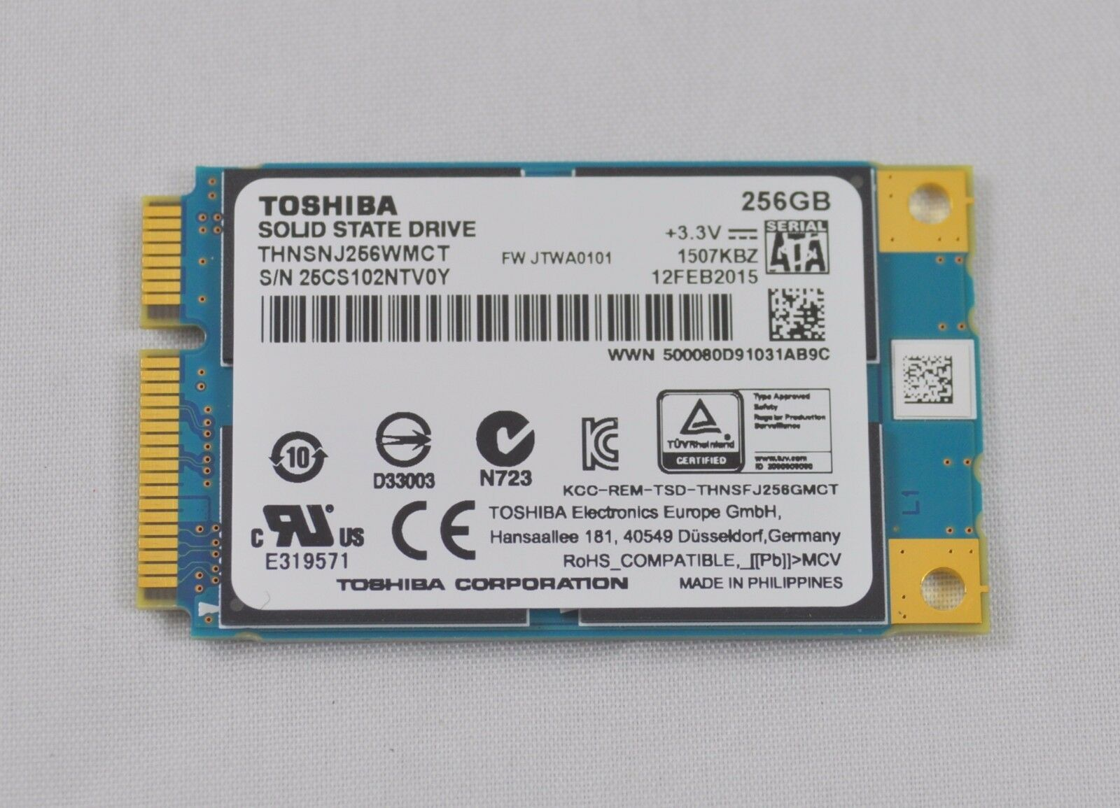 Primary image for Toshiba Series  SSD 256GB THNSNJ256WMCT  Internal Solid State