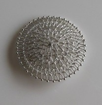 Large Vintage Sarah Coventry Silver Tone Filigree Brooch/Pin  - $18.80