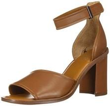 Franco Sarto Women's CAIA Heeled Sandal Leather Brown 7.5 M US - $50.05