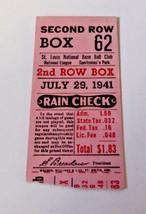 VINTAGE JULY 29,1941 SAINT LOUIS CARDINALS TICKET STUB baseball mlb spor... - $24.74