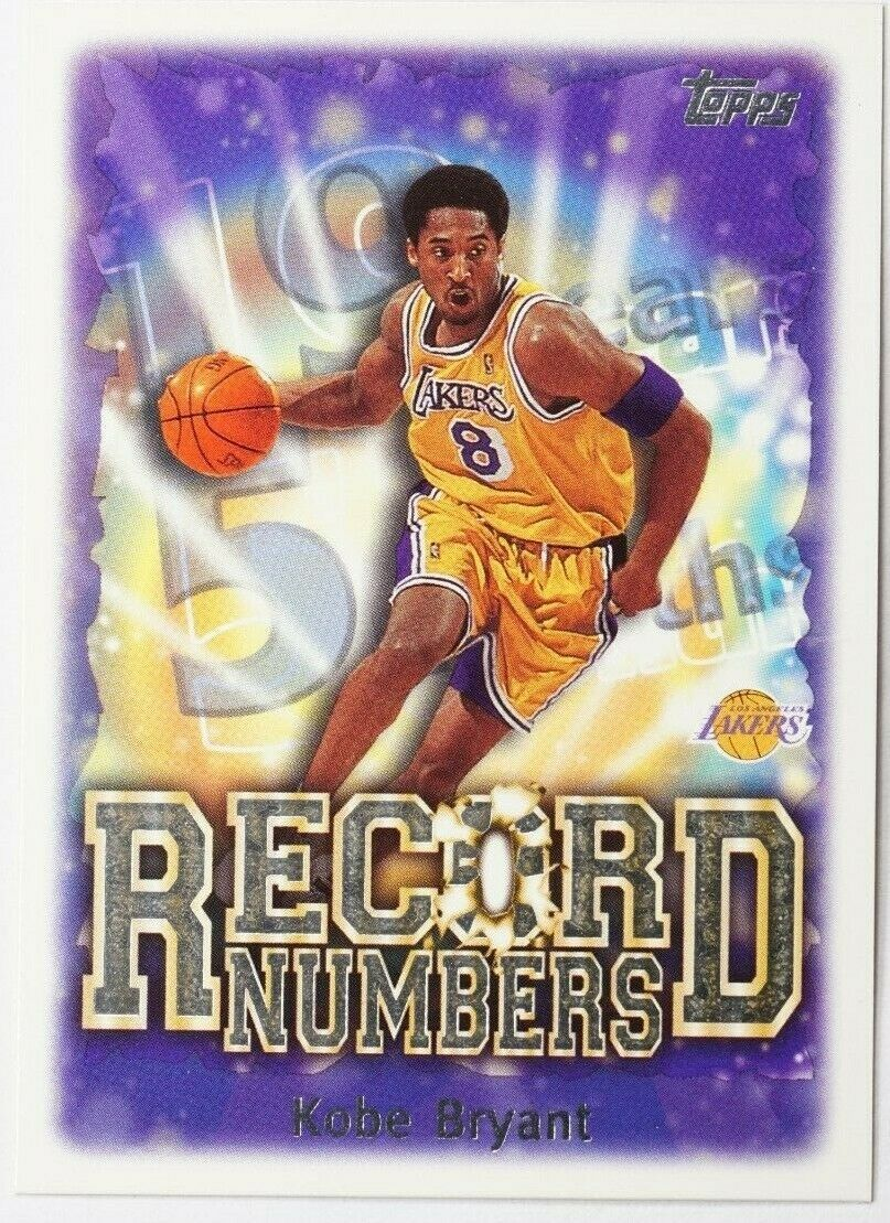 Primary image for 1999-00 KOBE BRYANT TOPPS RECORD NUMBERS #RN7 INSERT MINT CONDITION (DR)