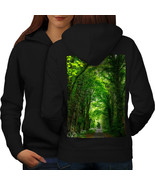 Green Forest Road Sweatshirt Hoody Venice Boat Women Hoodie Back - $21.99+