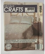 McCall's 8959 Bedroom Essentials Bedspreads Comforters Dust Ruffles Pill... - $11.64