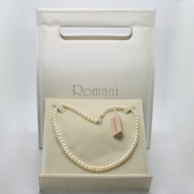 Necklace White Gold 18kt and Silver 925 with Pearls 5.5 6 mm Beautiful Box - $181.51