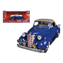 1938 Chevrolet Master Convertible Blue 1/32 Diecast Model Car by New Ray NR55... - $31.31