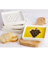 "Artisano Designs ""Vineyard Select Olive Oil and Vinegar Dipping Plate (4... - $34.44"