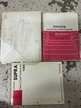 1986.5 TOYOTA SUPRA Service Repair Shop Workshop Manual OEM Set W EWD + ... - $62.32