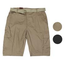 LR Scoop Men's Multi Pocket Casual Golf Belted Cargo Dress Shorts Big Plus Sizes