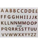 Nail Art 3D Decal Stickers Gold Alphabet Letters - $9.88