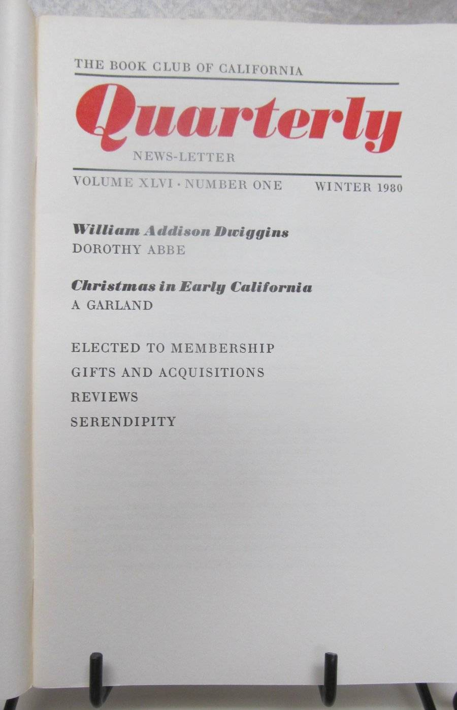 Primary image for Book Club of California Quarterly News Letter 1980's