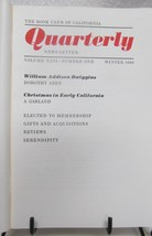 Book Club of California Quarterly News Letter 1980's - $49.50