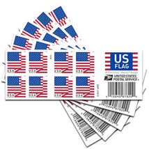 USPS FOREVER STAMPS- 2018 US FLAG ( 100 FIRST CLASS POSTAGE STAMPS ) - $45.99