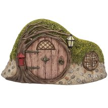 Miniature Fairy Garden of Enchantment Curved Tree Hole Cottage Figurine ... - ₨1,297.89 INR