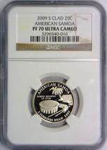 2009-S Clad American Samoa Quarter NGC PF-70 Ultra Cameo - $29.69