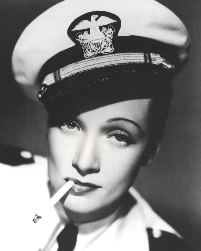 Marlene Dietrich 8x10 Photo classic in sailor uniform and cap with cigarette - $7.99