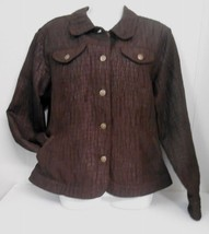 New w/o Tag~Ruby Rd~Sz 14*~Brown Shimmery Polyester Lined (4) Pocket Jacket - $17.95