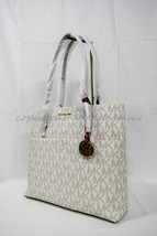 NWT! MICHAEL Michael Kors Bedford Large Top Zip Pocket Tote in Signature... - $169.00