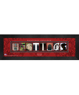 Personalized Hastings College Campus Letter Art Framed Print - $39.95