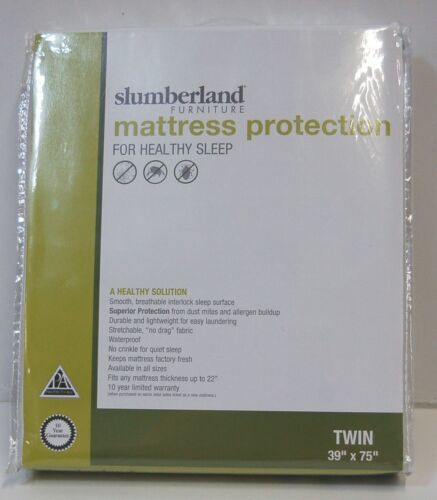 Slumberland Twin Mattress Protection White Smooth Breathable