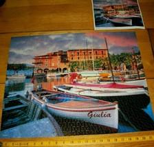 Jigsaw Puzzle 1000 Pieces Boats Italy Torri Del Benaco Harbor Photo Comp... - $11.87