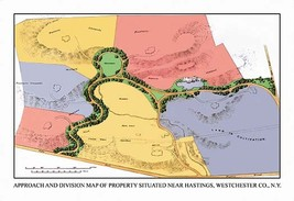 Approach and Division Map of Property Situated Near Hastings, N.Y. by J. Weiderm - $19.99+