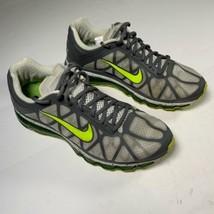 Nike Air Max + 2011 Men Running Shoes sz 10.5 Dark Grey green Sneakers - $69.99