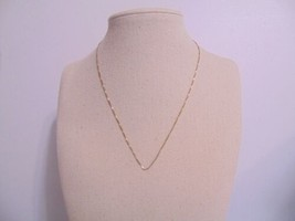 """Department Store 15 3/4""""  Golden Sterling Silver Box Chain Necklace N539 - $24.95"""