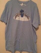 Dr Who Dr Seuss Blue Graphic T-Shirt Tee Shirt Size XXL 2X American Apparel - $14.47