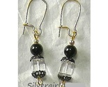 Lead crysatal clear black gold earrings thumb155 crop