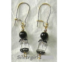 Lead Crystal Cube Swarovski Dangle Earrings Clear - $8.99