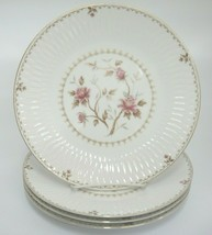 """Sango Montaigne Lot of 4 Dinner Plates Pink Flowers Gilded Edge 10.5"""" - $13.16"""
