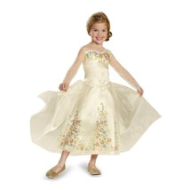 Cinderella Movie Wedding Dress Deluxe Costume  Small (4-6x) - £22.05 GBP