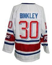 Any Name Number Toronto Toros Retro Hockey Jersey New White Binkley Any Size image 2