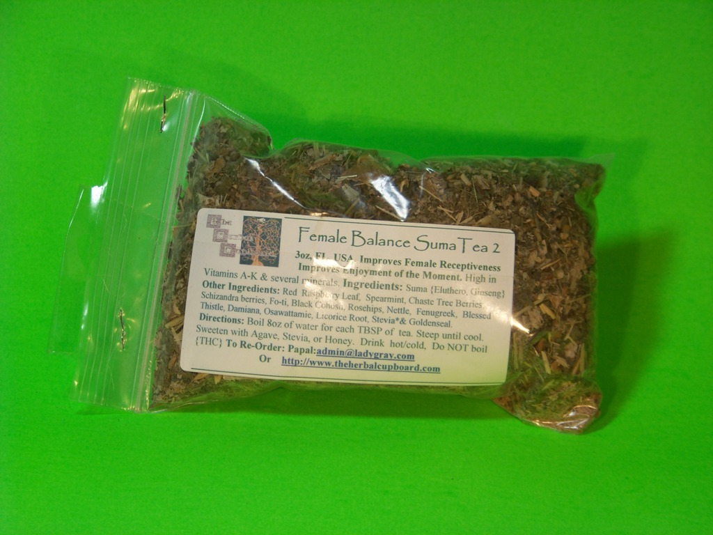 Female Balance (Suma/Desire)Tea, Post Menopause, freeleaf 4oz, $7.50