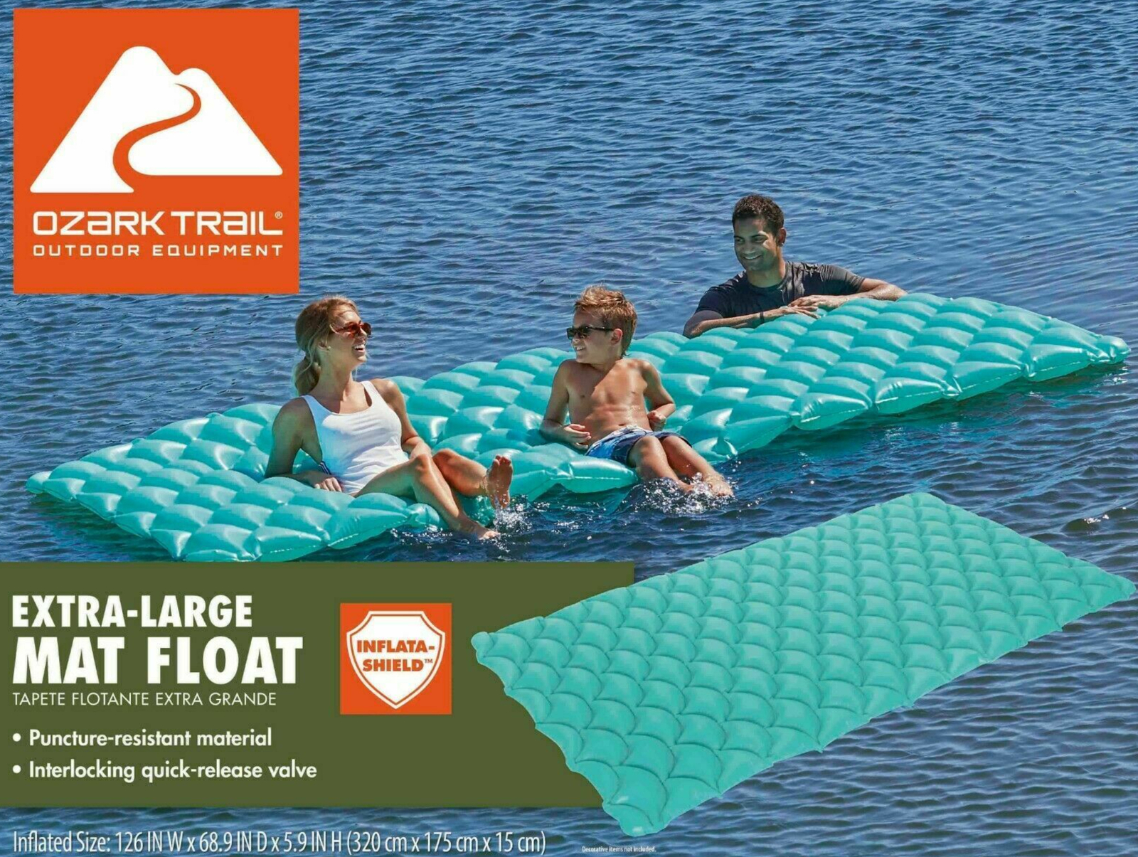Ozark Trail Paradise Lounge Pool Float
