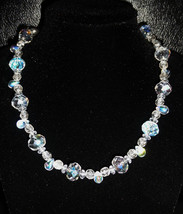 """16"""" Ice Queen crystal and artglass necklace - $78.00"""