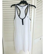 Lacoste Women's Racerback Casual Tennis Sleeveless Dress White Black Siz... - $19.99