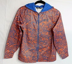 Under Armour youth kids loose hoodie zipper from orange blue size YLG/JG//G - $22.78