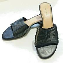 Naturalizer Women's Size 9 Black Leather Slides Sandals - $17.81
