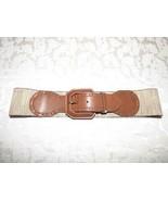 $48.00 Lauren Ralph Lauren Wide Stretch Belt-Natural/ Tan - $19.25
