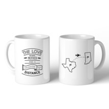 The Love Between Personalized Ceramic Mug Mom Gift From Daughters - $18.99