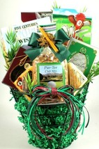 Tee Time, Golf Themed Gift Basket with Metal Golf Ball Caddy Filled with Snacks