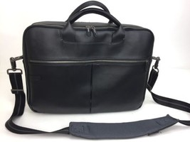 """Dell Black Leather Laptop Bag 17"""" With Extra Padding For Laptop - $17.77"""