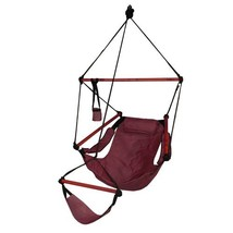 Hammaka Hanging Hammock Air Chair, Wooden Dowels, Burgundy - $70.43